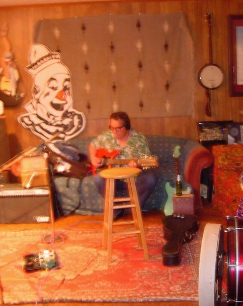 PHOTO:  Bukka Billy York in studio recording southern emotions 2009